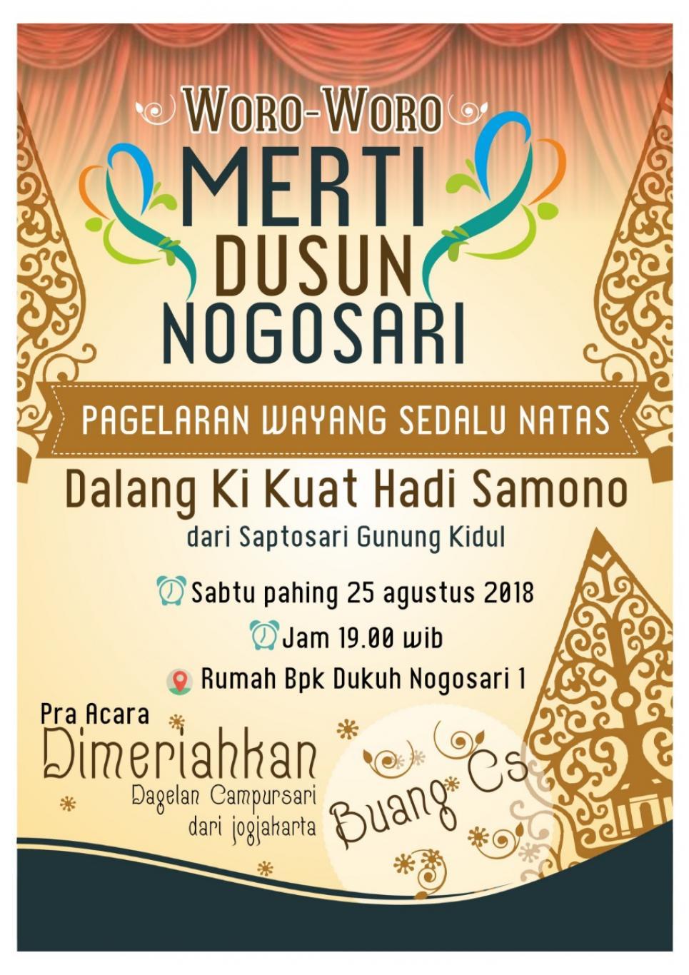Merti Dusun Nogosari I Website Desa Wukirsari