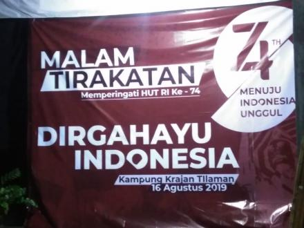 Malam Tirakatan Masyarakat Desa Wukirsari, Wujud Syukur dan Doa untuk Indonesia