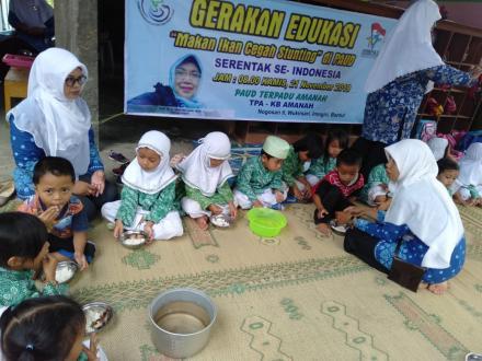 KB-TK Amanah Ikuti Gerakan Edukasi Makan Ikan Cegah Stunting di PAUD Serentak se-Indonesia