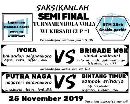 Jadwal Semi Final Bola Voli Wukirsari Cup #1