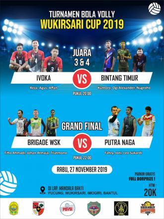 Saksikan Final Turnamen Bola Voli Wukirsari Cup 2019