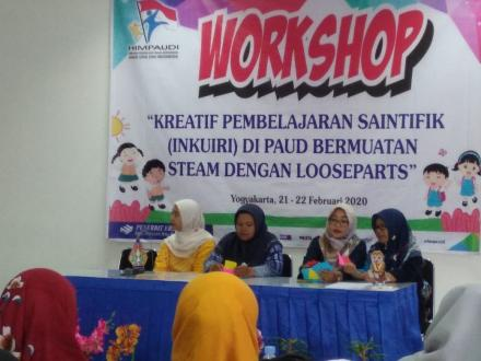Pendidik KB Amanah Ikuti Workshop STEAM