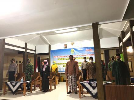 Pengambilan Sumpah dan Pelantikan Pamong Kelurahan dan BAMUSKAL Wukirsari Kapanewon Imogiri
