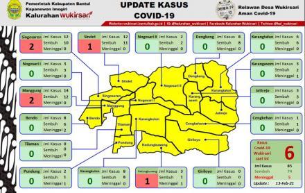 Update Sebaran Kasus Covid-19 per 13 Februari 2021