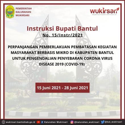 Instruksi Bupati Bantul tentang Perpanjangan Pemberlakuan PKM Berbasis Mikro