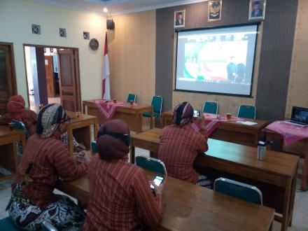 Via Zoom, Pemkal Wukirsari Ikuti Peringatan Hari Jadi ke-190 Kabupaten Bantul